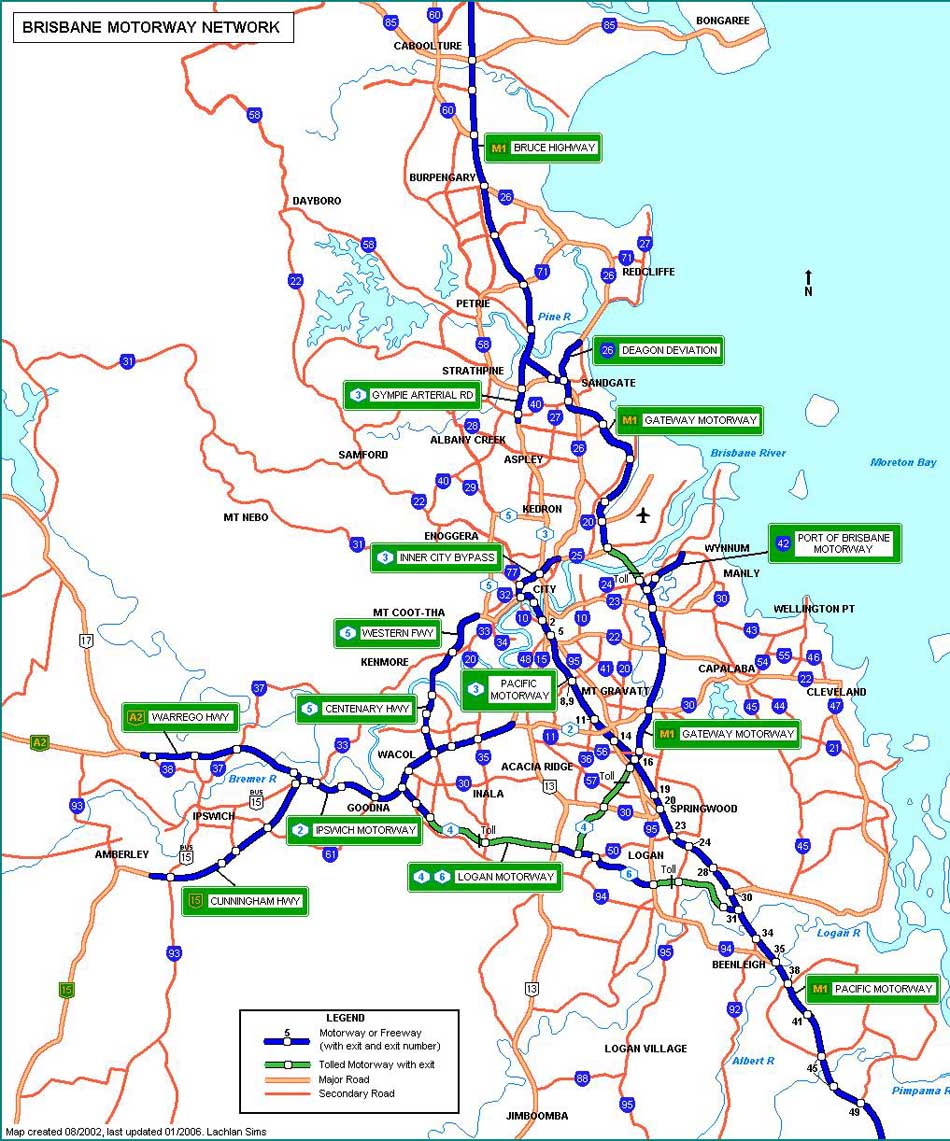 Ozroads Queensland motorways