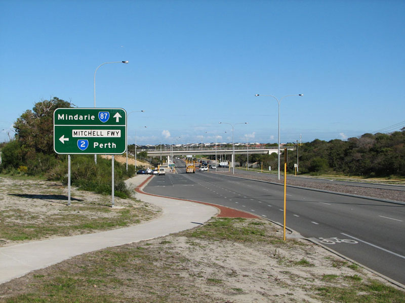 Ad Sign Westbound On Burns Beach Road Approaching The Junction With Mitchell Freeway Currambine Photo Taken August